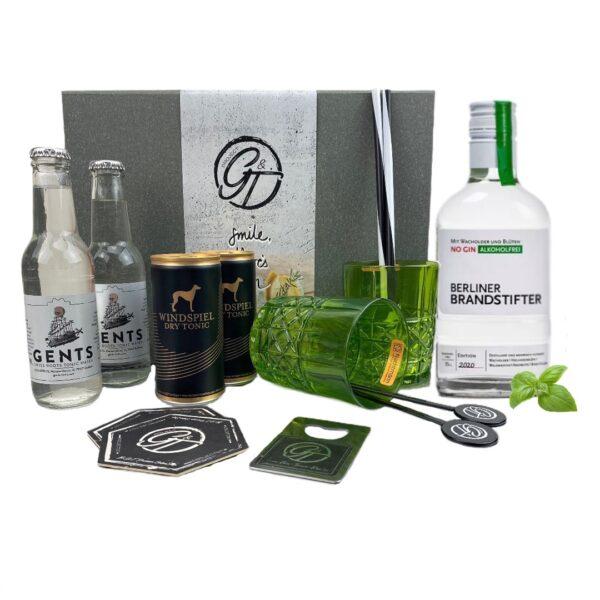 """Brandstifter Gin """"Alkoholfrei"""" & Gin Tonic Geschenkeset"""