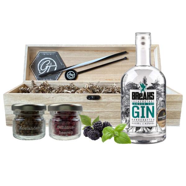 Breaks London Dry Gin& Botanical Box