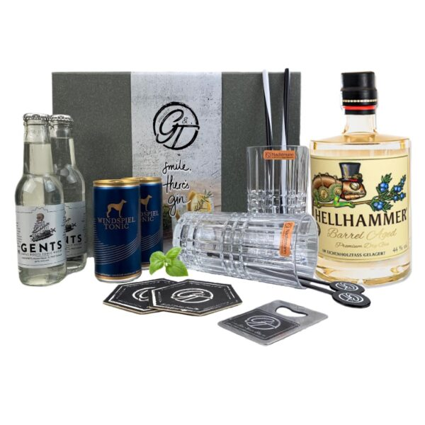 Hellhammer Barrel Aged Premium Dry Gin & Tonic Geschenkeset