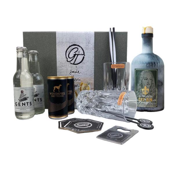 """Saarlouis Dry Gin """"Barrique"""" Edition & Tonic Geschenkeset"""