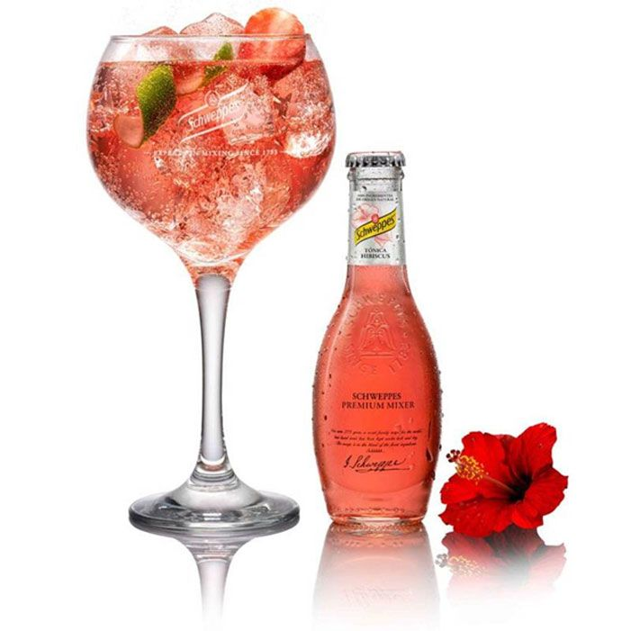 Gin Cocktail mit Schweppes