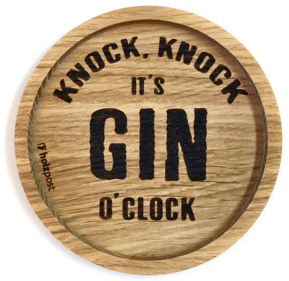 "Untersetzer ""It's GIN O'Clock"""