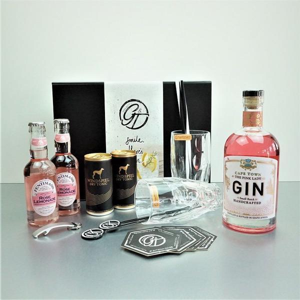 Cape Town Pink Landy Gin & Tonic Geschenkeset