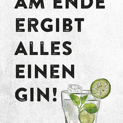 Gin Postkarte No1