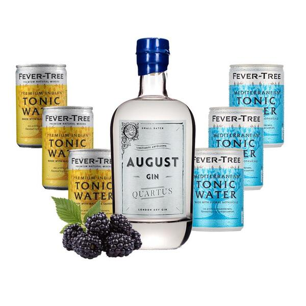 """August Gin """"Quartus"""" Limited Edition & Fever Tree Mix"""