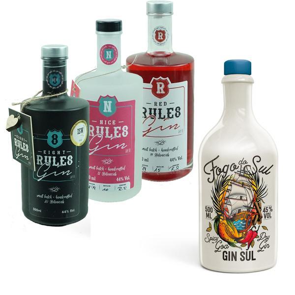 Fogo Do Sul Spicy Goa Dry Gin (2019) + 8 Rules Gin Set