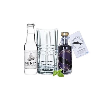 Schwarzer Walfisch Gin Tasting Set incl. Nachtmann Glas