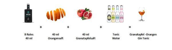Granatapfel - Orangen Gin Tonic