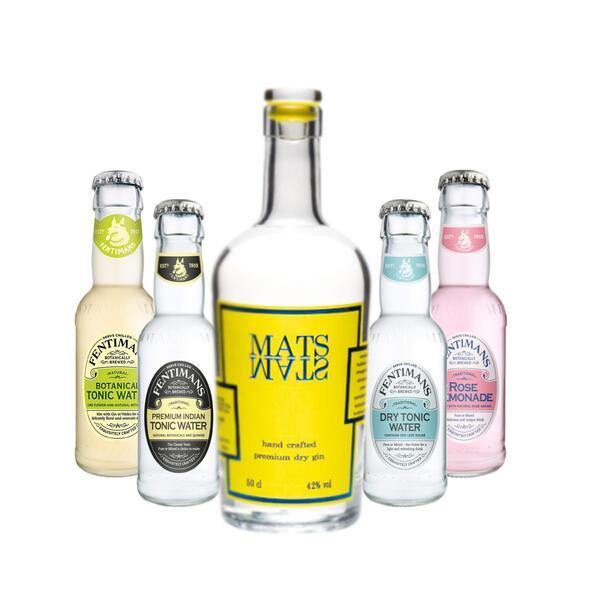 MATS Premium Dry Gin & Fentimans Tonic Mix