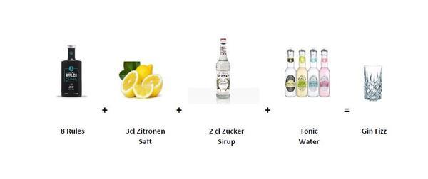 8 Rules Gin - Gin Fizz